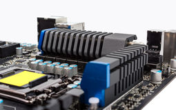 Electronic collection - Multiphase power system modern processor Stock Photo