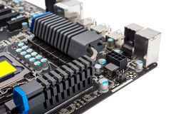 Electronic collection - Multiphase power system modern processor Royalty Free Stock Photo