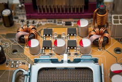 Electronic collection - Multiphase power system modern processor Stock Images