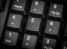 Electronic collection - numeric keypad on the computer keyboard. Royalty Free Stock Photo