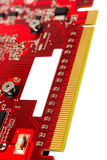 Electronic collection - PCI-e data connector videocard Stock Photo