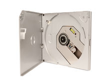 Electronic collection - Portable external slim CD DVD drive Stock Photos