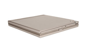 Electronic collection - Portable external slim CD DVD drive Stock Image