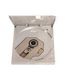 Electronic collection - Portable external slim CD DVD drive Royalty Free Stock Photos