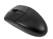 Electronic collection - Wireless optical black computer mouse Stock Image