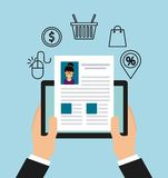 Electronic commerce design Stock Photos