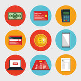 Electronic commerce set icons Royalty Free Stock Images