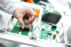 Electronic component assembly Royalty Free Stock Photo