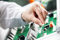Electronic component assembly Stock Photos