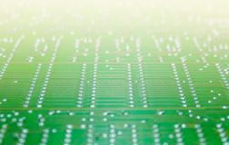 Electronic component with circuit board close up Stock Photography
