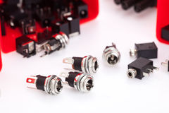 Electronic component jack Stock Images