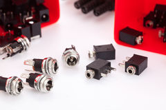 Electronic component jack Royalty Free Stock Images