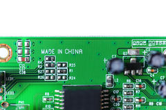 Electronic component, Made in China Stock Photos