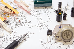 Electronic components Stock Images