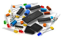 Free Electronic Components Royalty Free Stock Image - 26901736