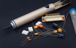 Electronic components Royalty Free Stock Photos