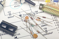 Electronic components Stock Image