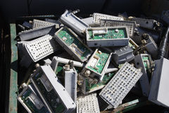 Electronic Components In Bin Stock Images