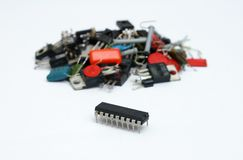Electronic components or chip? Royalty Free Stock Photography