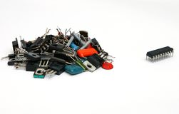 Electronic components or chip? Stock Photography