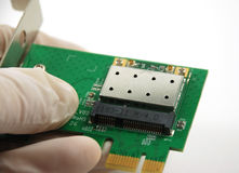 Electronic components and devices Stock Images