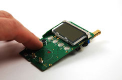 Electronic components and devices Stock Image