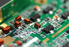 Electronic components and devices Royalty Free Stock Image