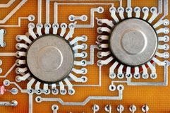 Electronic components Royalty Free Stock Images