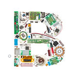 Electronic components letter Royalty Free Stock Photography