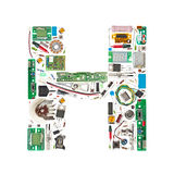 Electronic components letter Stock Photography