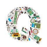Electronic components letter Stock Image
