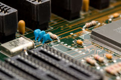 Electronic components macro Royalty Free Stock Photos