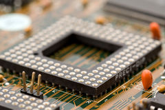 Electronic components macro Royalty Free Stock Images