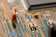 Electronic components macro Stock Photos