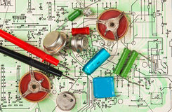Electronic components Royalty Free Stock Photo