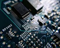 electronic computer board Stock Photo