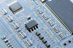 Electronic computer circuit board Stock Image