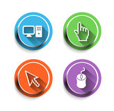 Electronic computer icon Set Royalty Free Stock Photos