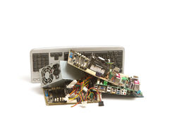 Electronic and computer parts waste Royalty Free Stock Photos