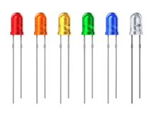 Set of color LEDs Stock Image
