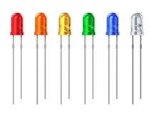 Set of color LEDs royalty free illustration