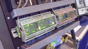 Electronic control units for the CNC machine. stock video footage