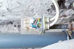 Electronic controller of water tank in home Royalty Free Stock Photo