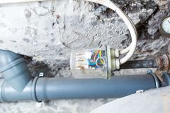 Electronic controller of water tank in home Stock Images
