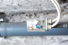 Electronic controller of water tank in home Royalty Free Stock Images