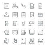 Electronic Cool Vector Icons 7 Stock Image
