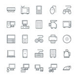 Electronic Cool Vector Icons 1 Royalty Free Stock Photography