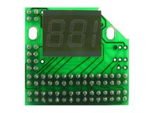 The electronic counter. A close up. It is isolated on a white background Royalty Free Stock Photography
