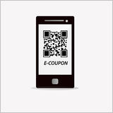 Electronic coupon code Royalty Free Stock Photo