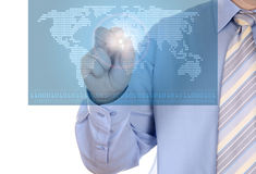 Electronic Coverage Map. Digital world concept graphic, including digital map of the world royalty free stock photo
